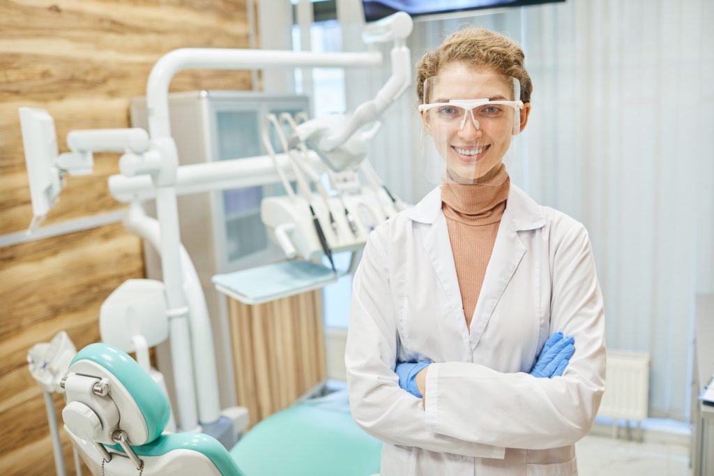 Dentist in clinic
